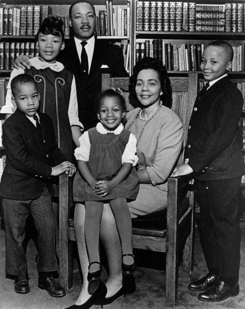 Dexter King, Yolanda King, Martin Luther King Jr., Bernice King, Coretta Scott King, Martin Luther King III